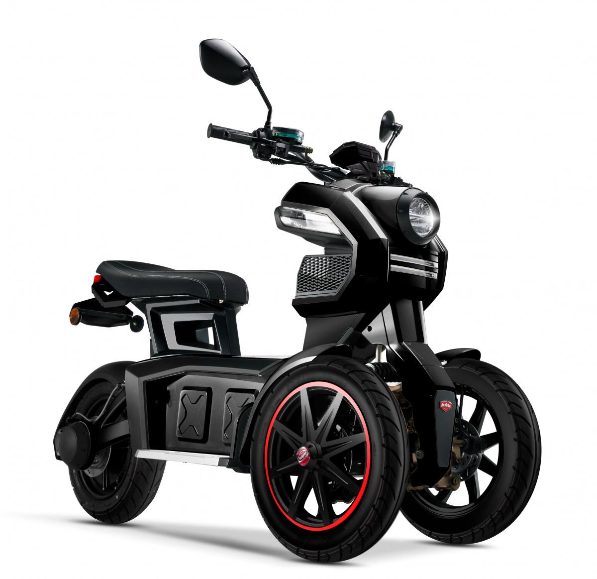 электроскутер трицикл